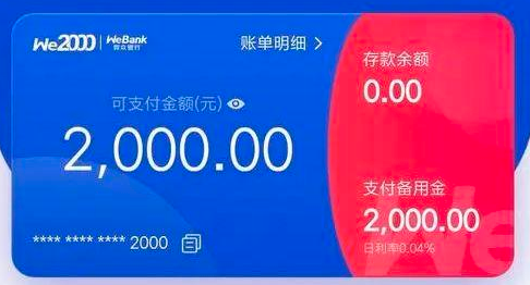 微信备用金二次贷,WE2000怎么没有额度?